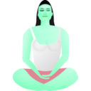 download Lady In Meditation clipart image with 135 hue color