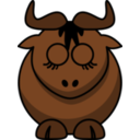 Cartoon Gnu Sleeps