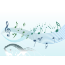 download Musical 2 clipart image with 225 hue color