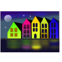 download City Of Canals clipart image with 45 hue color