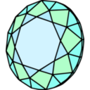 download Diamant clipart image with 315 hue color