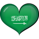 Saudi Arabia Heart Flag
