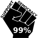 download Occupy Support Democracy clipart image with 225 hue color