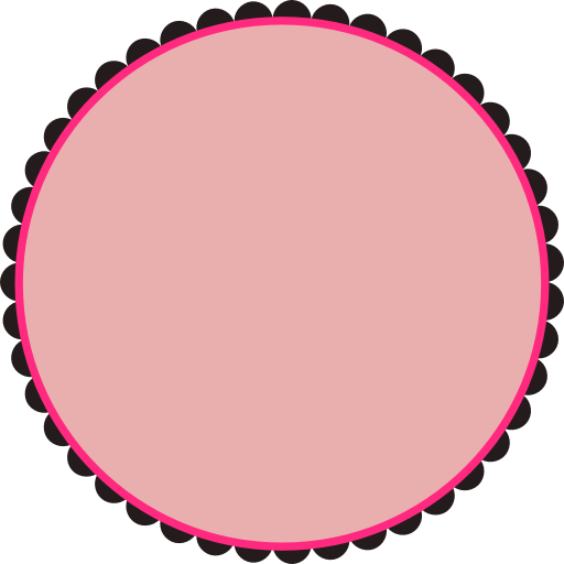 Scallop Frame Png Scalloped Round Frame Clipart