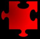 Red Jigsaw Piece 11