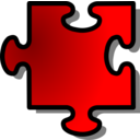 Red Jigsaw Piece 11
