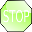 download Stop Sign clipart image with 90 hue color