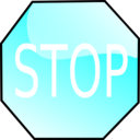 download Stop Sign clipart image with 180 hue color