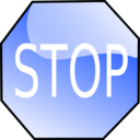 download Stop Sign clipart image with 225 hue color