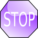 download Stop Sign clipart image with 270 hue color
