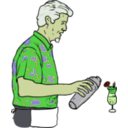 download Tiki Bartender Martin Duus clipart image with 45 hue color