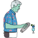 download Tiki Bartender Martin Duus clipart image with 135 hue color