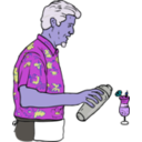download Tiki Bartender Martin Duus clipart image with 225 hue color