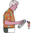 download Tiki Bartender Martin Duus clipart image with 315 hue color