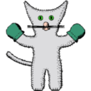 download Kitten With Mittens clipart image with 45 hue color