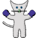 download Kitten With Mittens clipart image with 135 hue color
