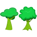 download Soft Trees clipart image with 45 hue color