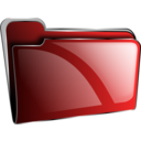 Folder Icon Red Empty