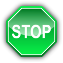 download Stop Signal clipart image with 135 hue color