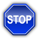 download Stop Signal clipart image with 225 hue color