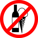 Sign No Drinks No Ice Cream