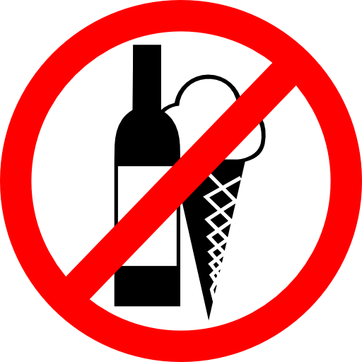 Sign no drinks no ice cream clipart i2clipart royalty for Free clipart no copyright