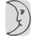 download Moon Face clipart image with 45 hue color