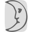 download Moon Face clipart image with 135 hue color