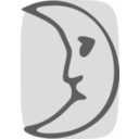 download Moon Face clipart image with 225 hue color