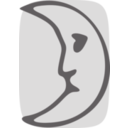 download Moon Face clipart image with 315 hue color