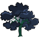 download Oak Tree clipart image with 135 hue color