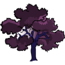 download Oak Tree clipart image with 225 hue color