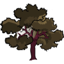 download Oak Tree clipart image with 315 hue color