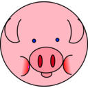download Pig clipart image with 45 hue color
