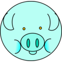 download Pig clipart image with 225 hue color