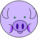 download Pig clipart image with 315 hue color
