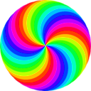 download 36 Circle Swirl 12 Color clipart image with 45 hue color