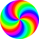 download 36 Circle Swirl 12 Color clipart image with 315 hue color