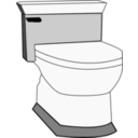 download Toilet clipart image with 180 hue color