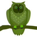 download Owl clipart image with 45 hue color