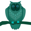 download Owl clipart image with 135 hue color