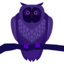 download Owl clipart image with 225 hue color