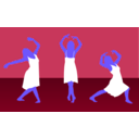 download Girl Dance clipart image with 225 hue color