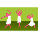 download Girl Dance clipart image with 315 hue color