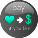 download Pay If You Like Button 2 clipart image with 135 hue color