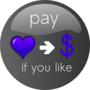 download Pay If You Like Button 2 clipart image with 225 hue color