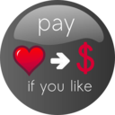 download Pay If You Like Button 2 clipart image with 315 hue color
