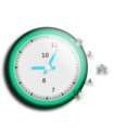 download Wall Clock clipart image with 135 hue color