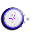 download Wall Clock clipart image with 225 hue color
