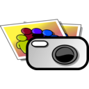 download Photo Camera clipart image with 225 hue color